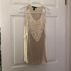 Forever 21 boho embroidered tank S